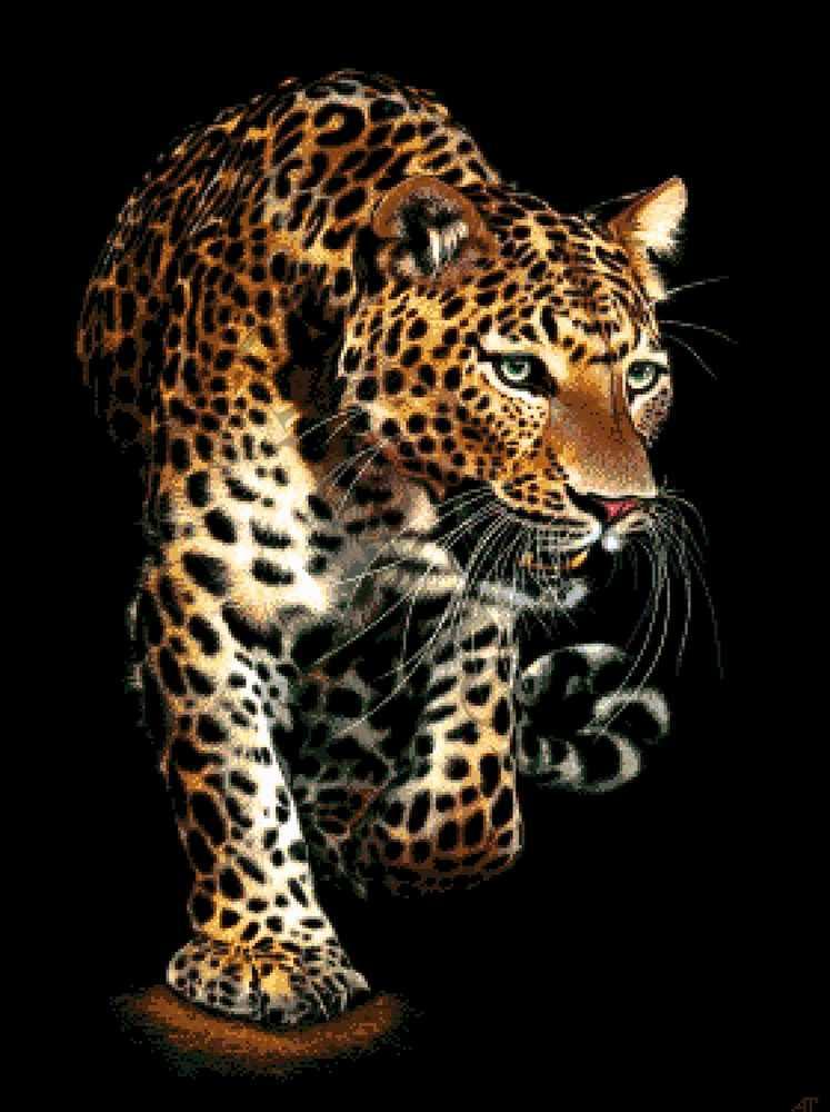36-3519-НЛ Леопард - набор для вышивания (А. Токарева)