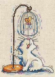 2872 Кот у птичьей клетки (Design Works)