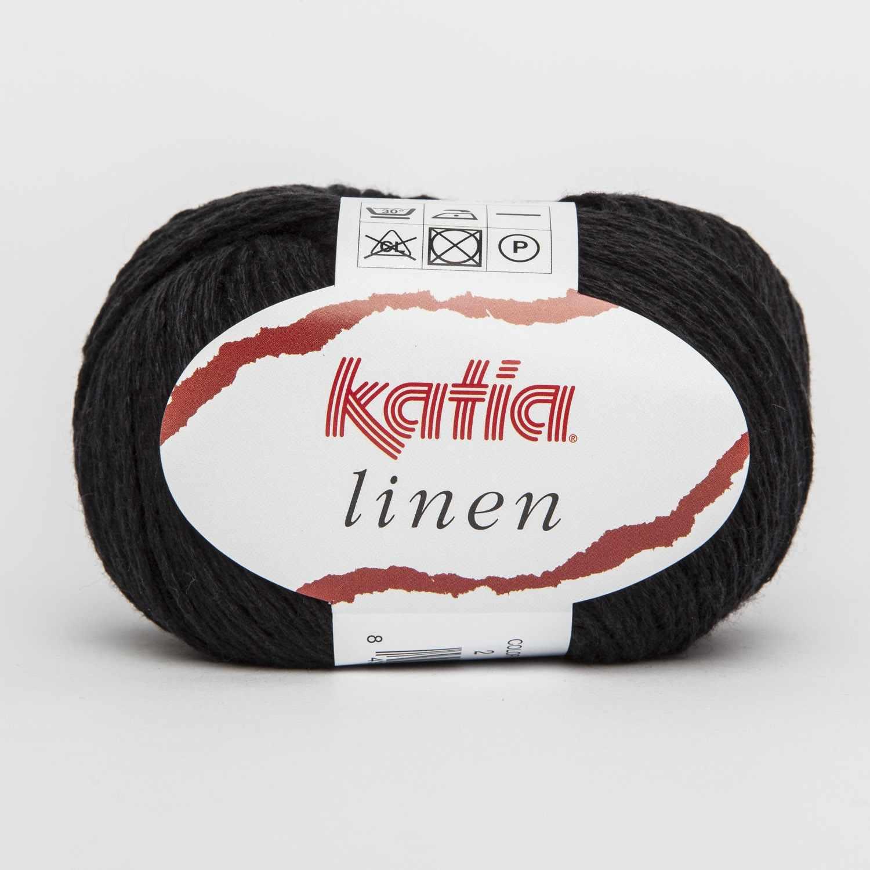 Пряжа Katia Linen Цвет.485.2 черный