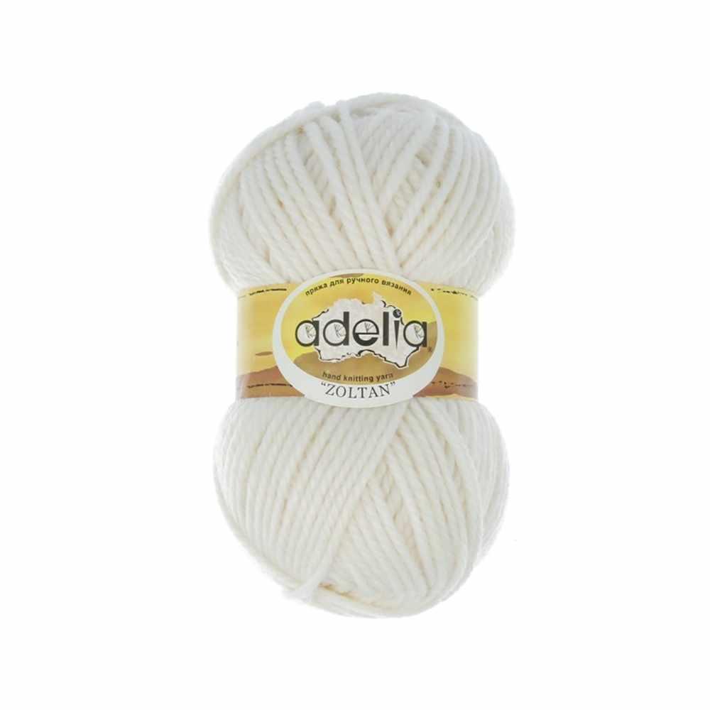 Пряжа Adelia Zoltan Цвет.111 Белый