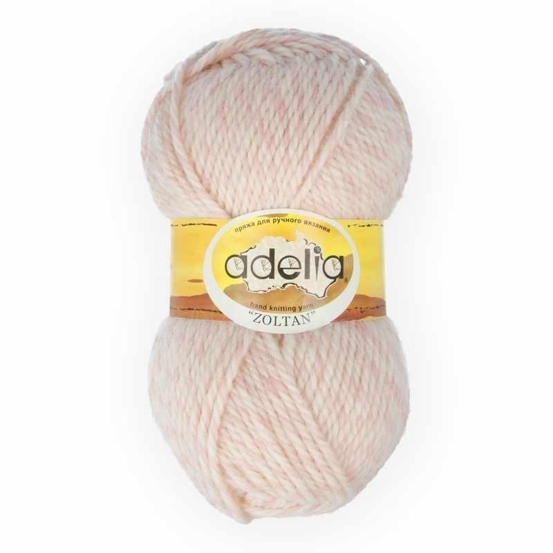 Пряжа Adelia Zoltan Цвет.119 Светло розовый-белый