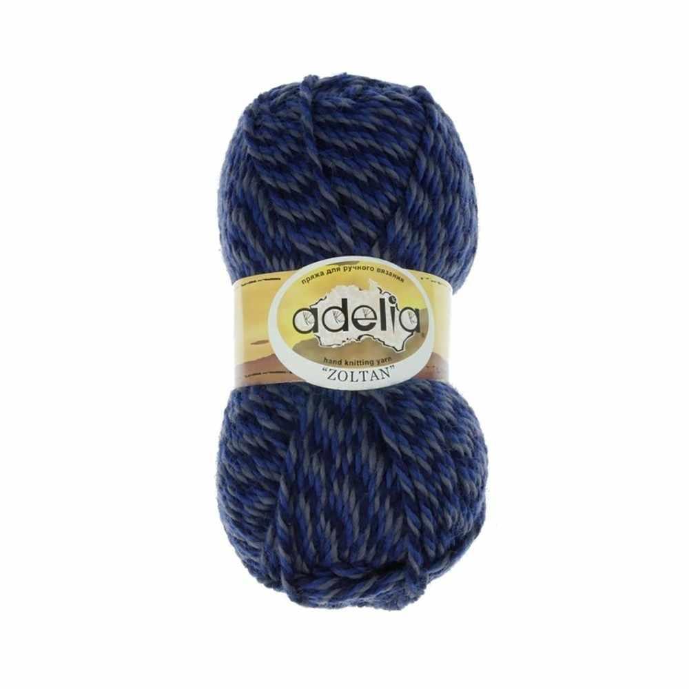 Пряжа Adelia Zoltan Цвет.164 Синий-серый