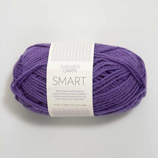 Пряжа SANDNES GARN Smart Цвет.5226 сирень
