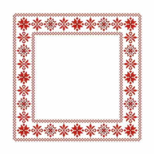 ККС/хб/ бязь - 014 Заготовка салфетки крестом - схема для вышивания (Каролинка)