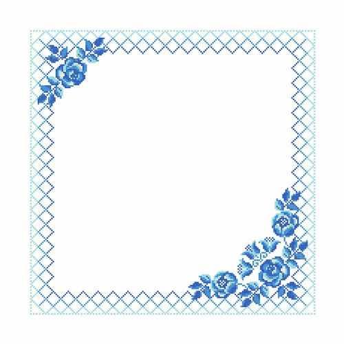 ККС/хб/ бязь - 015 Заготовка салфетки крестом - схема для вышивания (Каролинка)