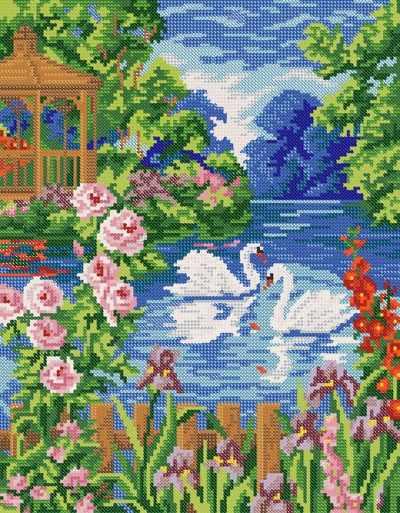 РКЗ-026 Белые лебеди  - схема для вышивания (Марiчка)