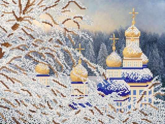 РКП-682 Зимние купола  - схема для вышивания (Марiчка)
