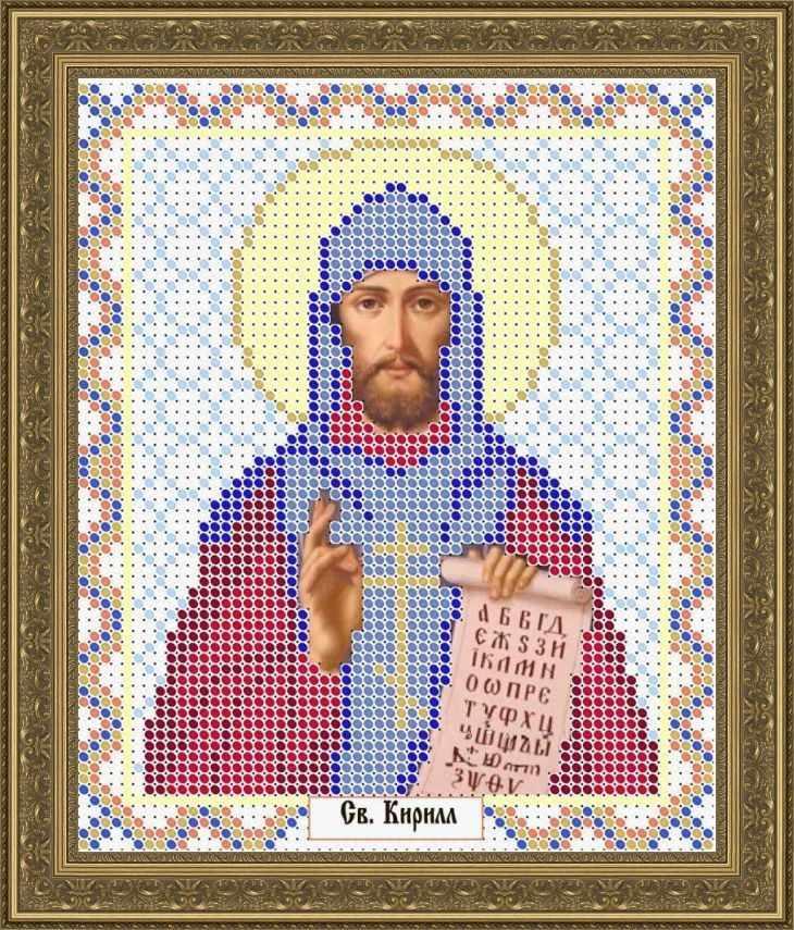 КАЮ1258 Св. Кирилл - схема для вышивания (Матрёшкина)