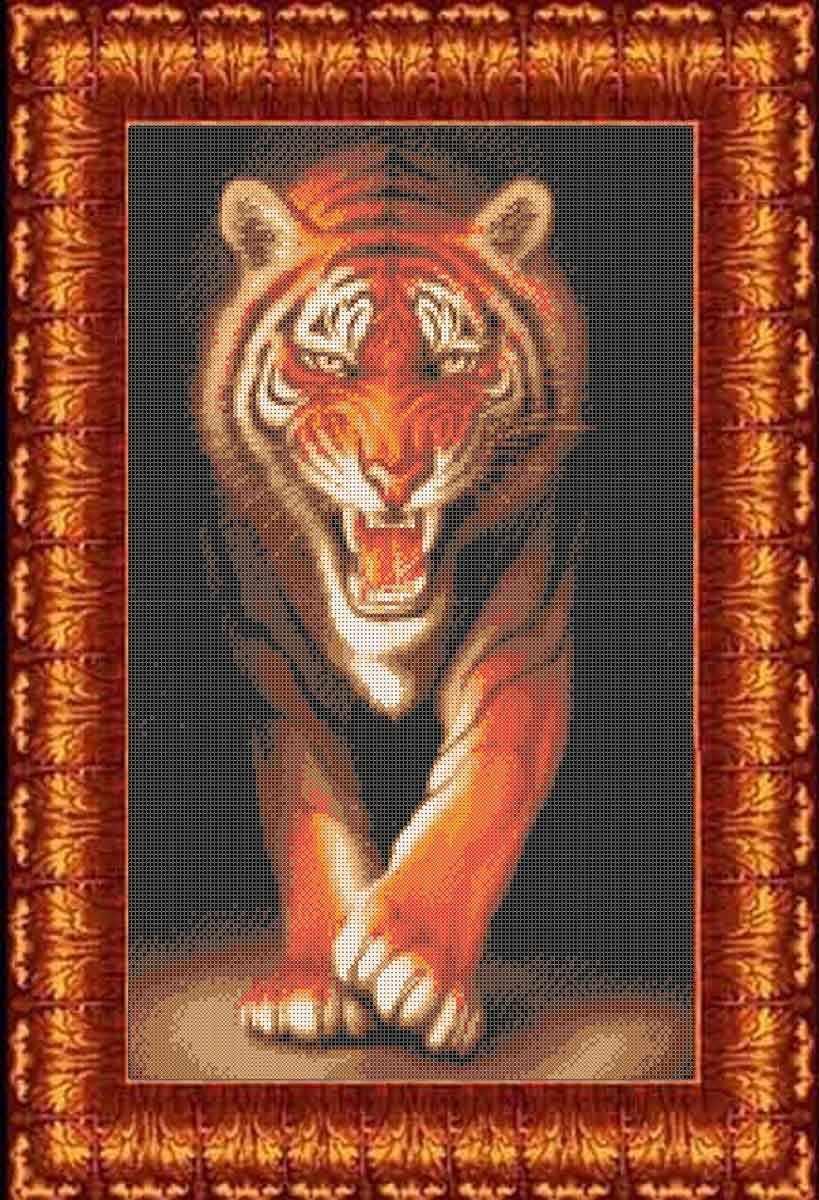 КБЖ 2006 Хищники - Тигр - схема для вышивания (Каролинка)