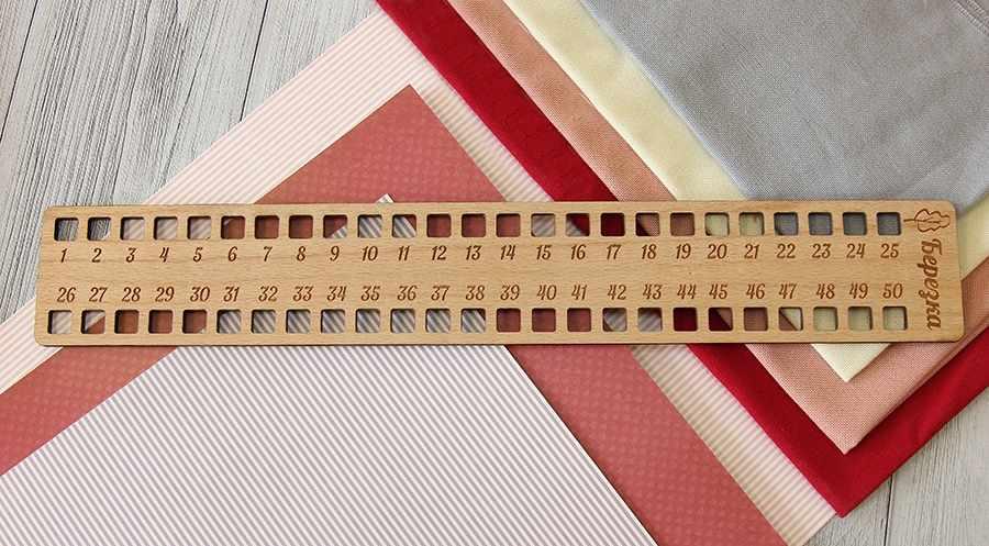 Органайзер для ниток Прямоугольный, 50 отверстий, бук
