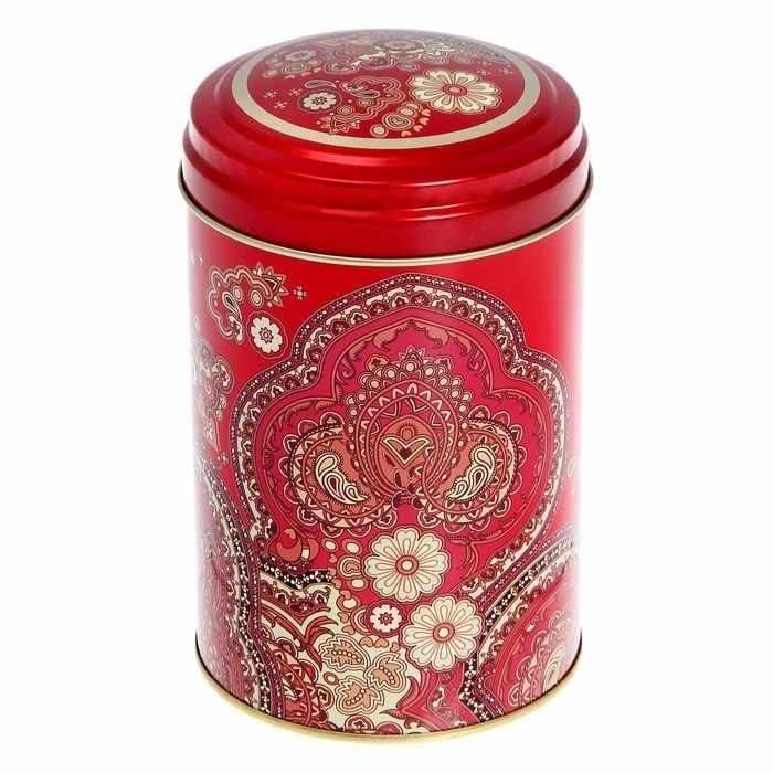 """1769530 Банка для сыпучих продуктов 1,1 л """"Арабески"""", круглая, цвет МИКС"""