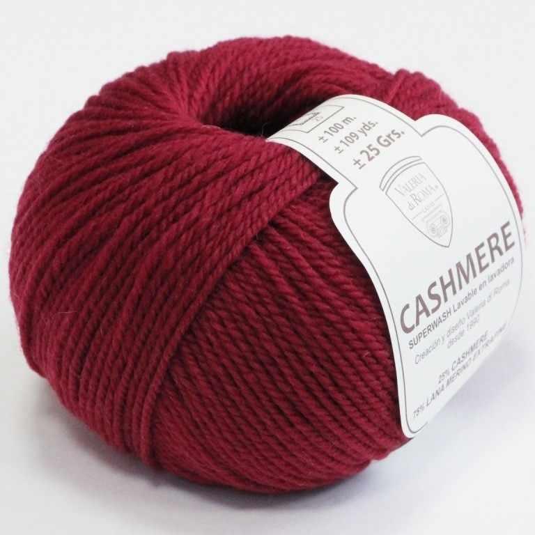 Пряжа Valeria di Roma Cashmere Цвет.027 Темно красный