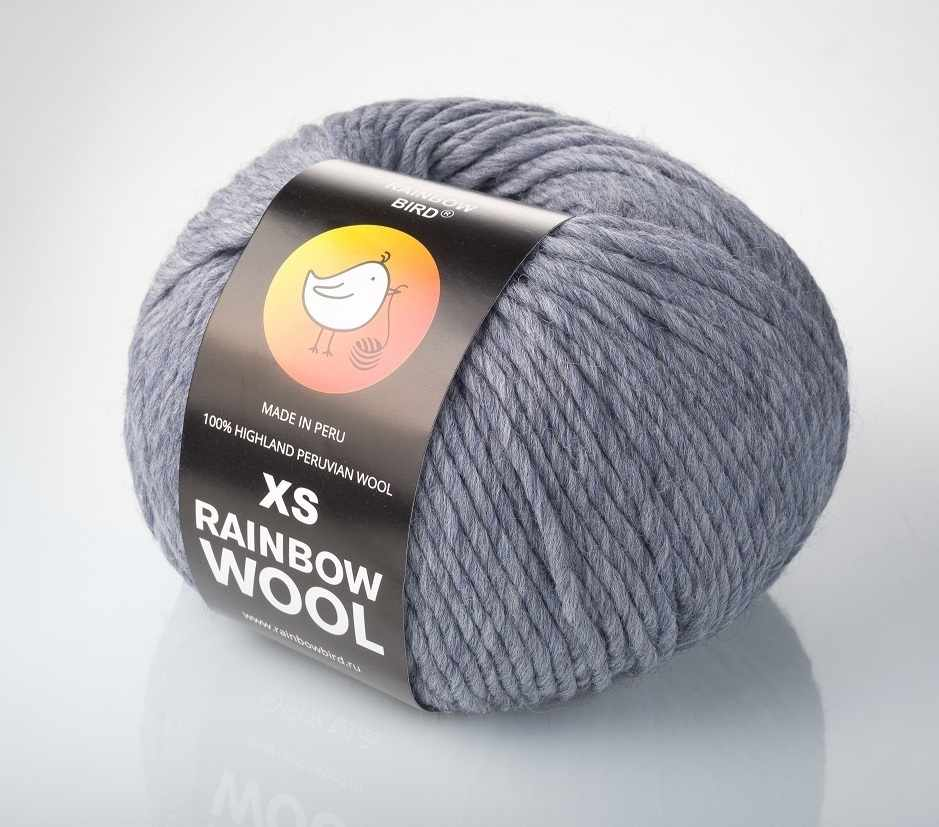 Пряжа RAINBOW BIRD XS RAINBOW WOOL Цвет.Griffin