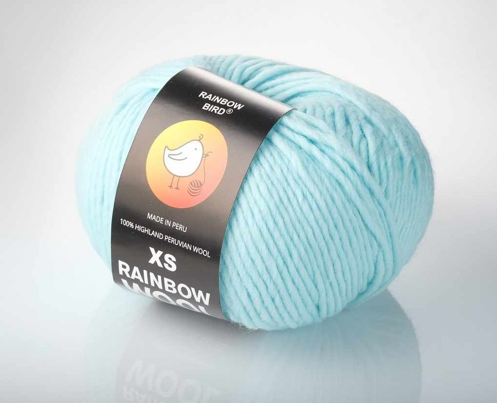 Пряжа RAINBOW BIRD XS RAINBOW WOOL Цвет.Clear Water