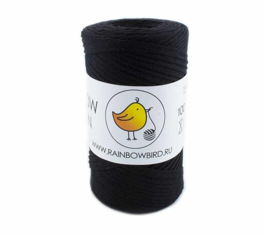 Пряжа RAINBOW BIRD RAINBOW RIBBON Цвет.Black