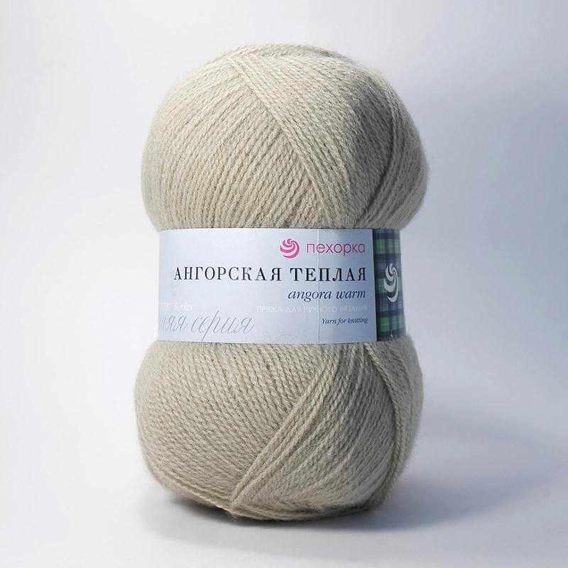 Пряжа Пехорка Ангорская теплая Цвет.43 Суровый лен