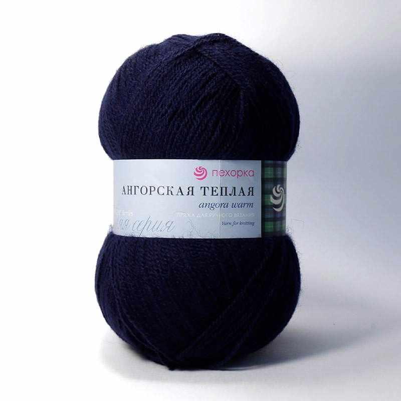 Пряжа Пехорка Ангорская теплая Цвет.571 Синий