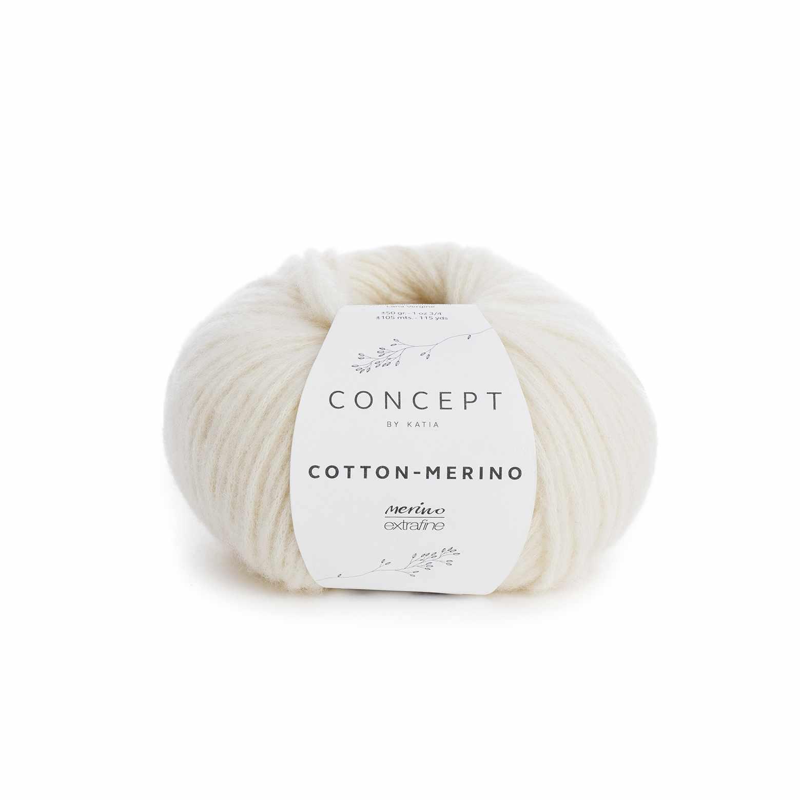 Пряжа Katia Cotton-Merino Цвет.929.100