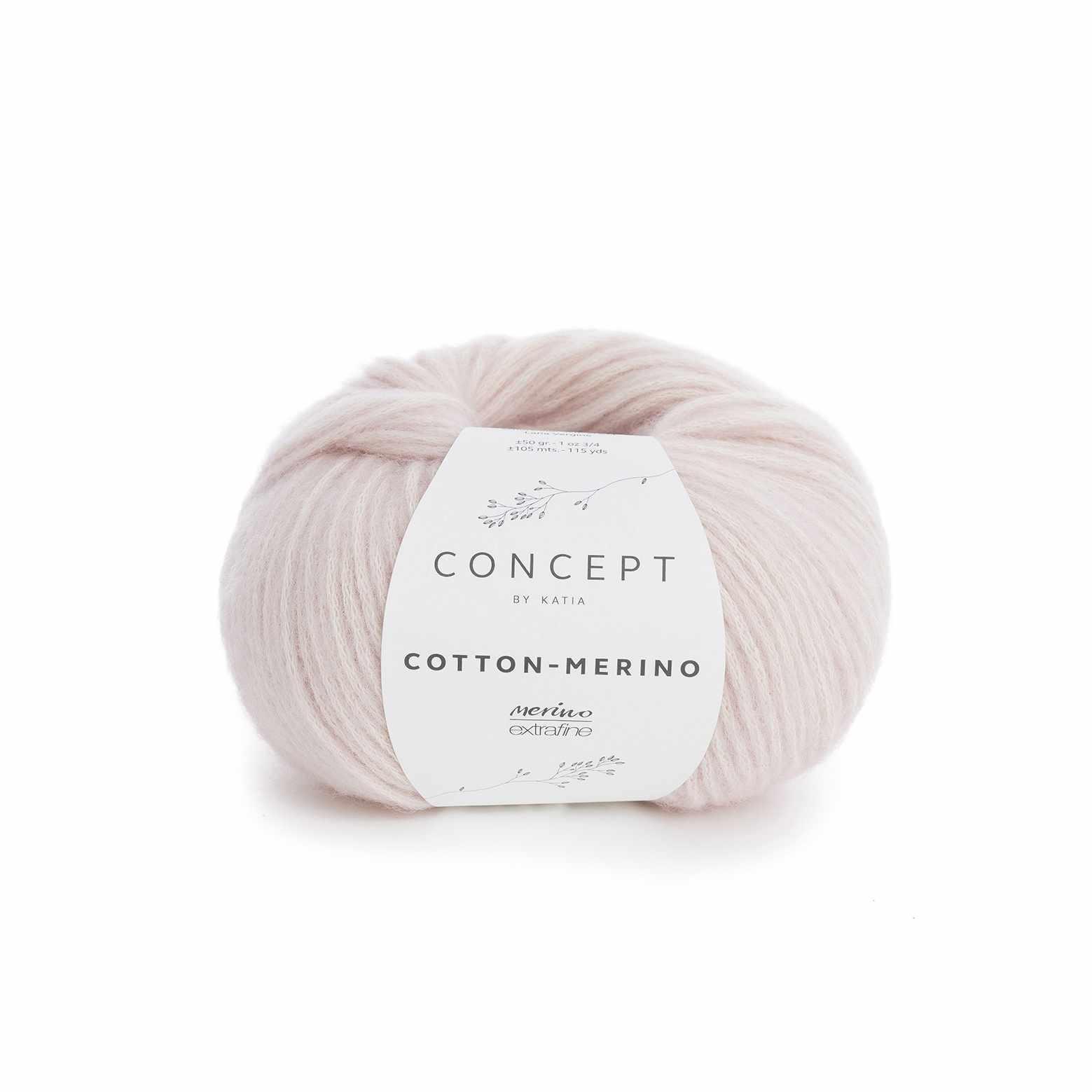 Пряжа Katia Cotton-Merino Цвет.929.103 роз.пудра