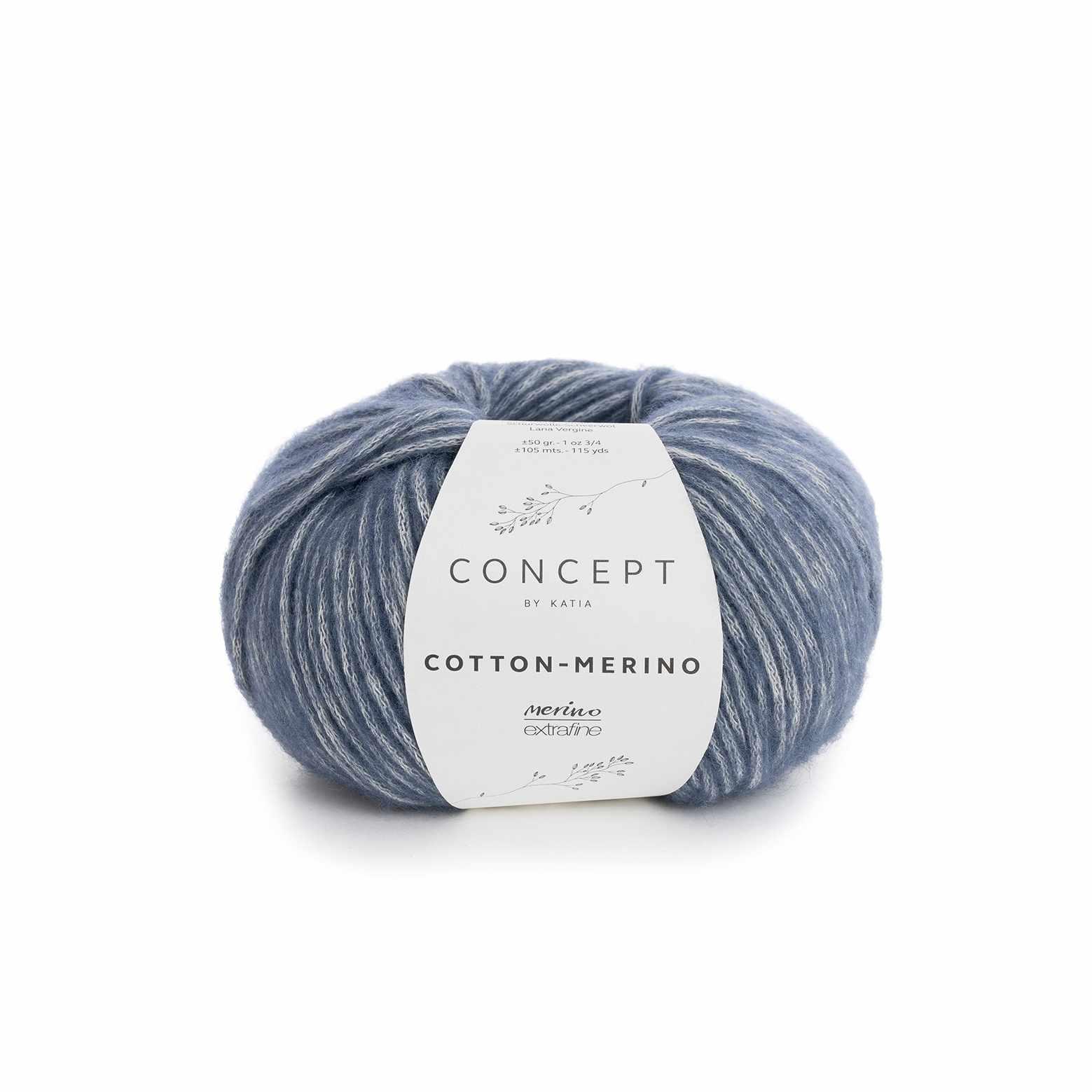 Пряжа Katia Cotton-Merino Цвет.929.115 джинс