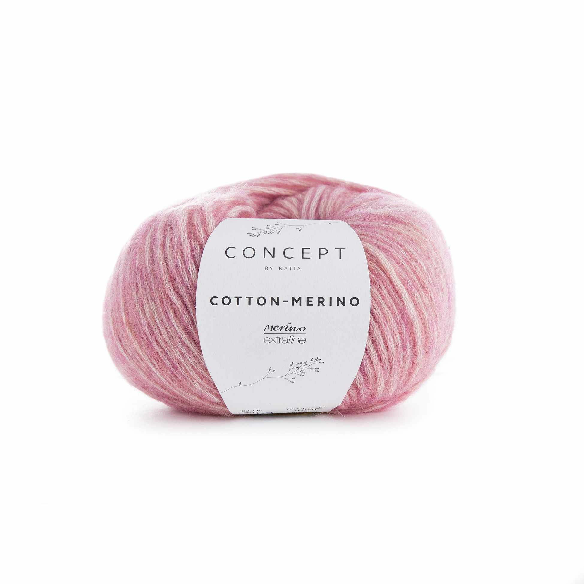 Пряжа Katia Cotton-Merino Цвет.929.119 св.розовый
