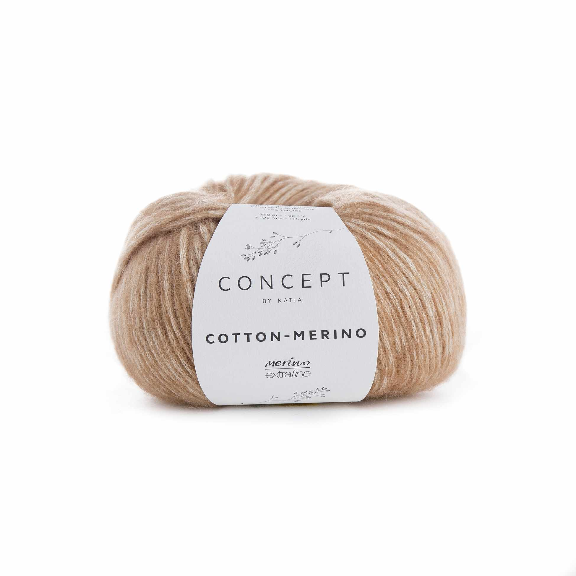 Пряжа Katia Cotton-Merino Цвет.929.123 св.беж