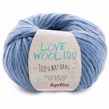Пряжа Katia Love Wool Цвет.1098.214 св.джинс