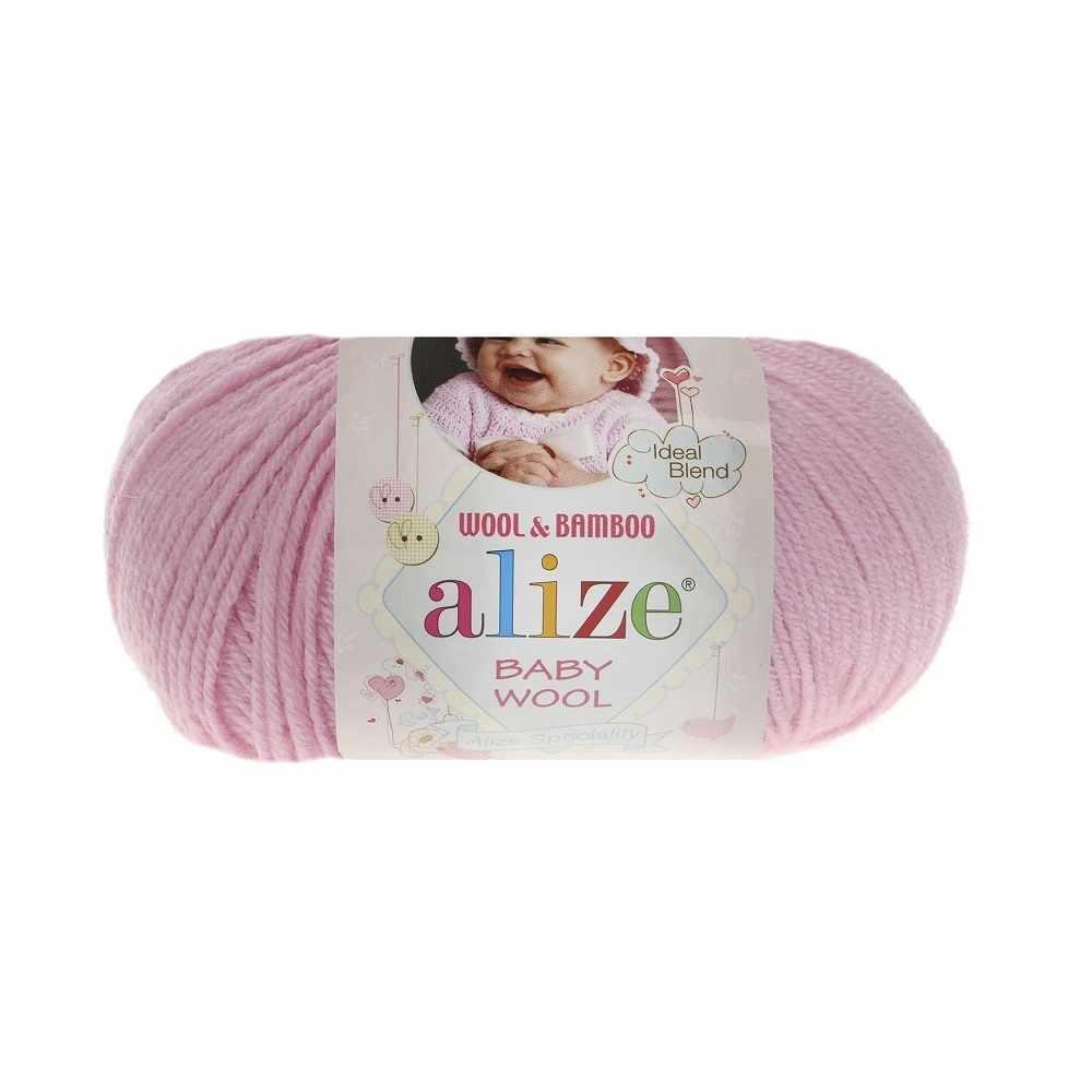 Пряжа Alize Baby Wool Цвет.185 Розовый