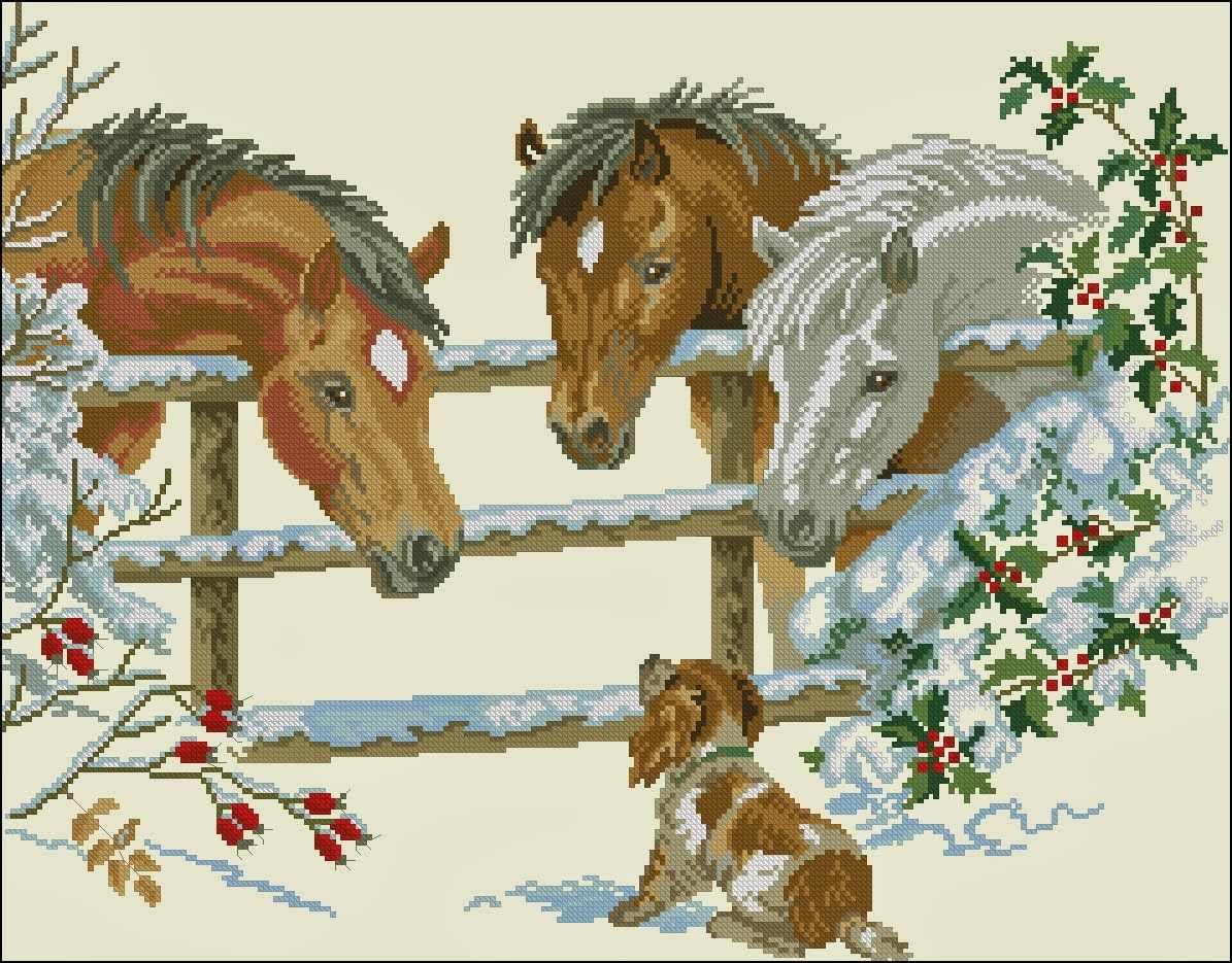 """12-741 """"Лошадки и щенок"""""""