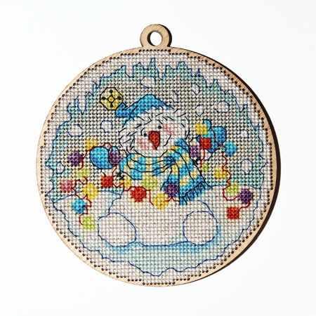 5524 Новогодняя – Снеговик (Alisena)