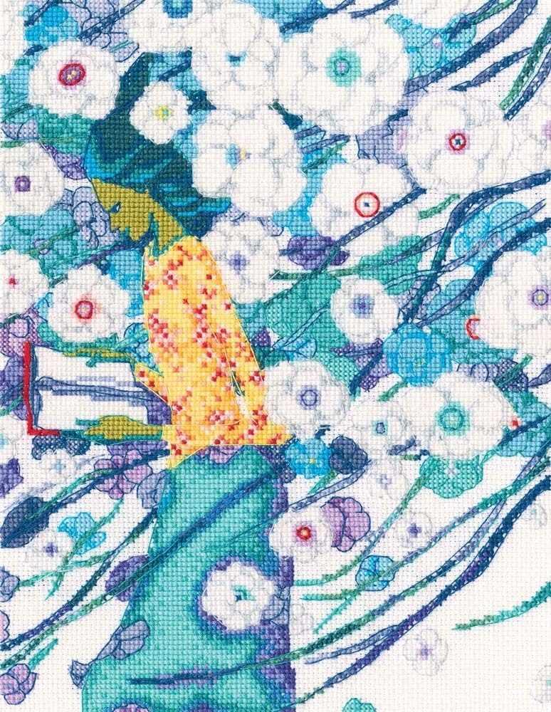 M715 Стихи, сквозь белизну цветов
