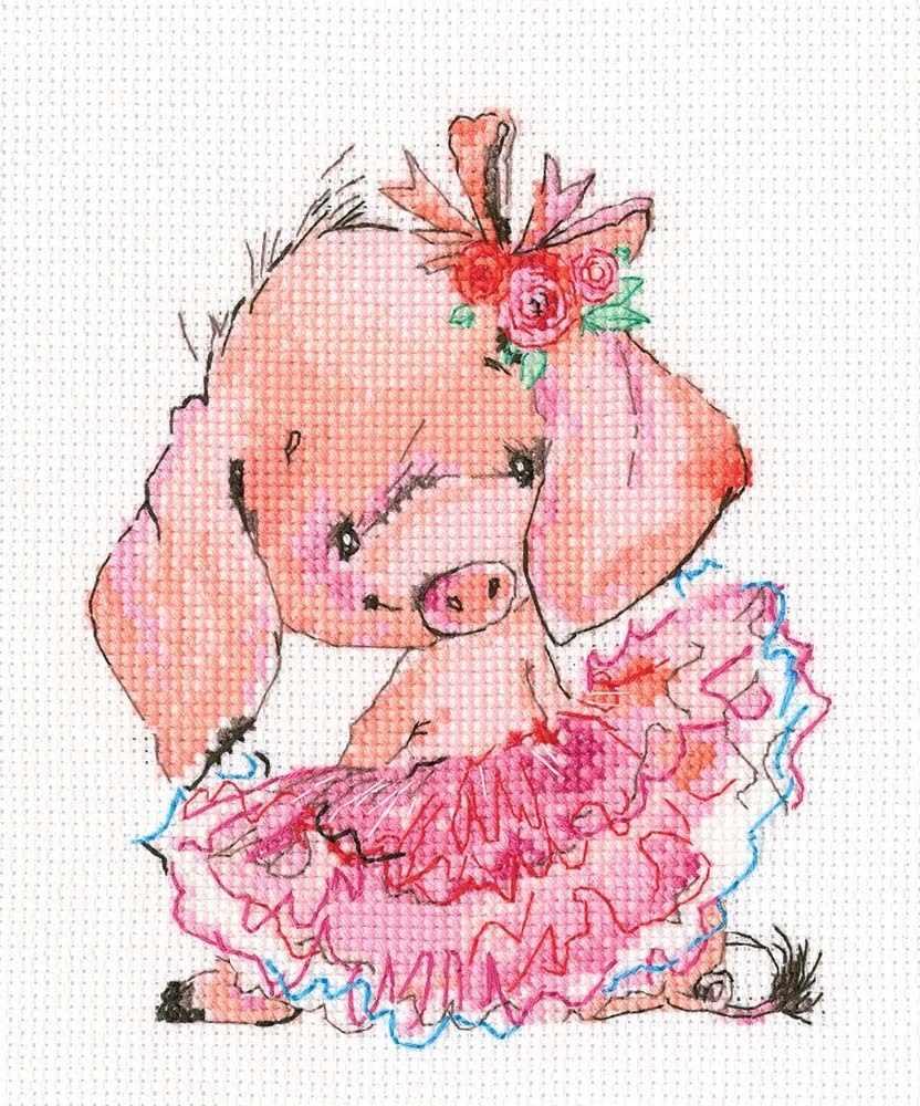 C314 Розовая балерина