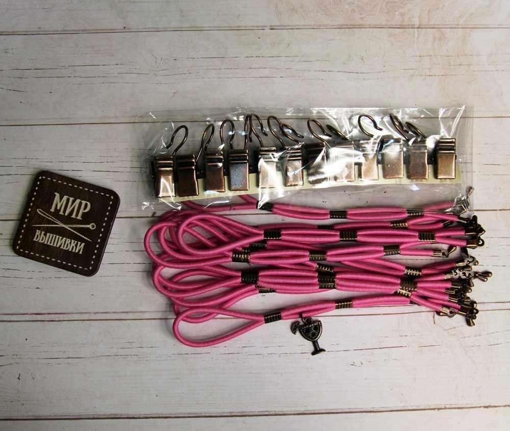 005077 Боковая натяжка плотная, розовая пантера