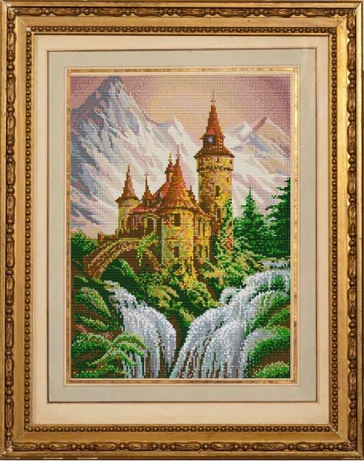 """НИК 1229 """"Замок в горах"""" - схема для вышивания (Конёк)"""