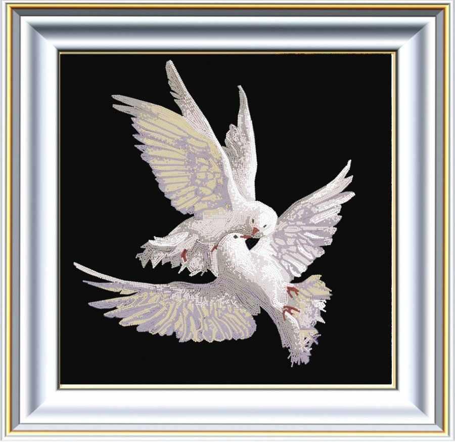 """НИК 8461 """"Пара голубей """" - схема для вышивания (Конёк)"""