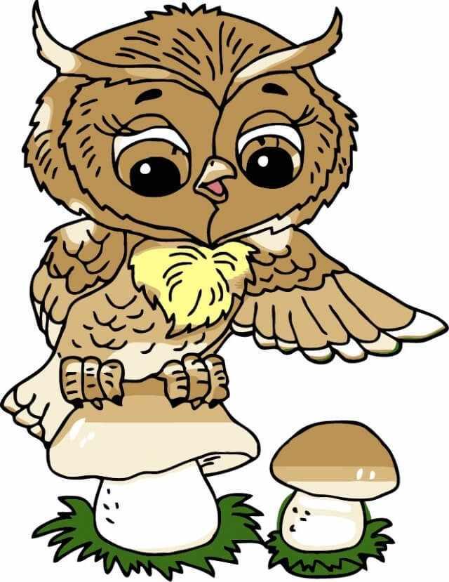 """Ma1007  """"Совушка и гриб"""""""