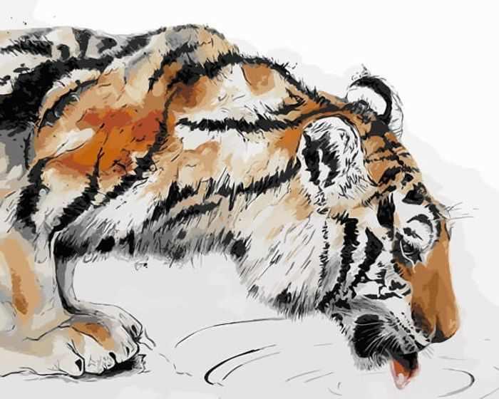 """Me1067 """"Тигр на водопое"""""""