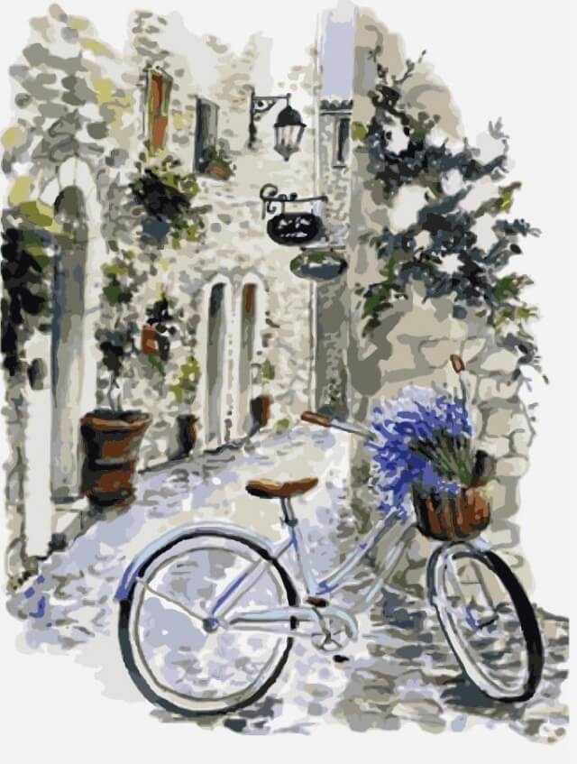 Батюшке яр-кравченко, открытка прованс с велосипедом