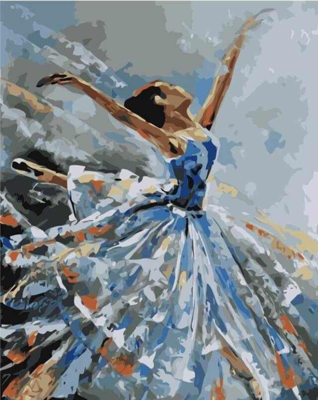 """Mg2050 """"Балерина в голубом"""""""