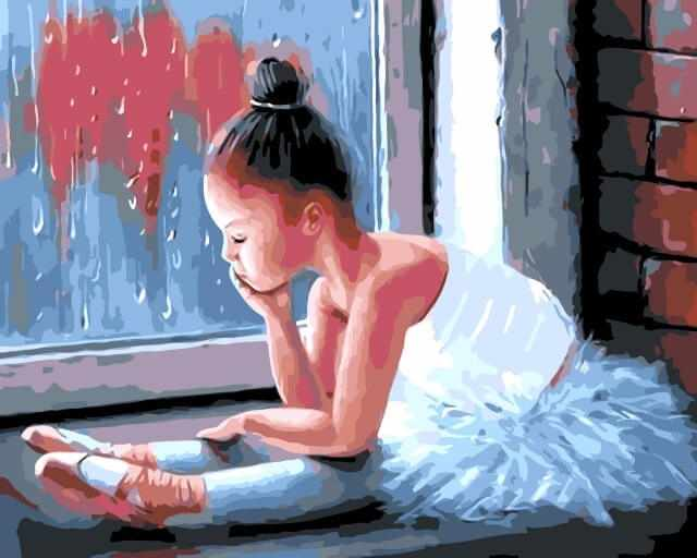 "Mg6001 ""Маленькая балерина у окна"""