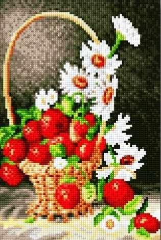30257-Х Корзинка с ромашками и клубникой