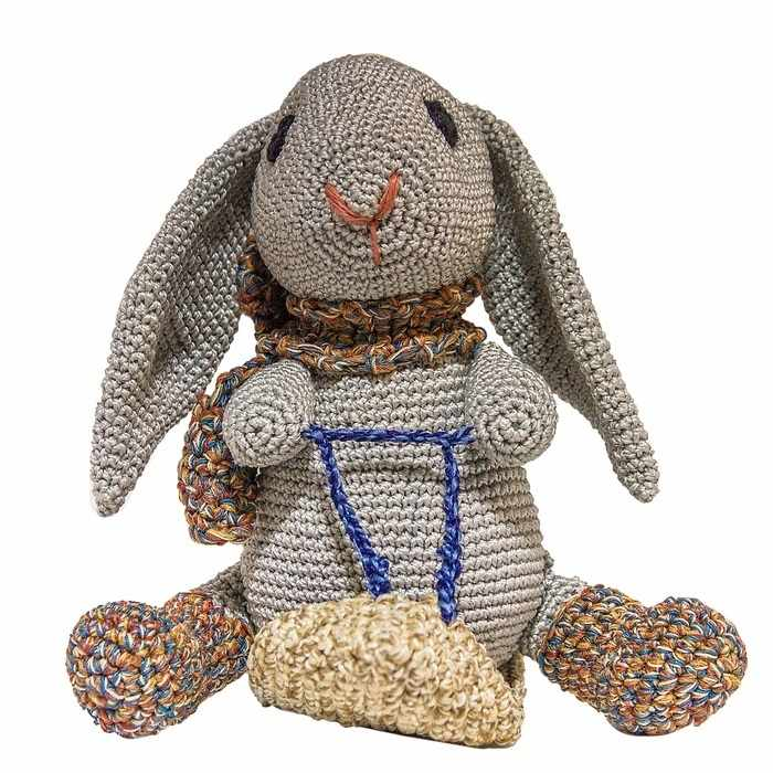 """3418795 Набор для вязания игрушки """"Кролик на санках Степка"""""""