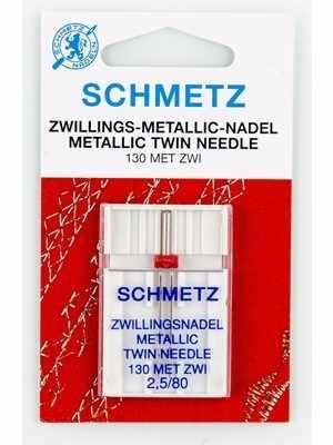 0717373 Иглы для металлизированных нитей двойные 130 MET ZWI №80/2,5, 1 шт