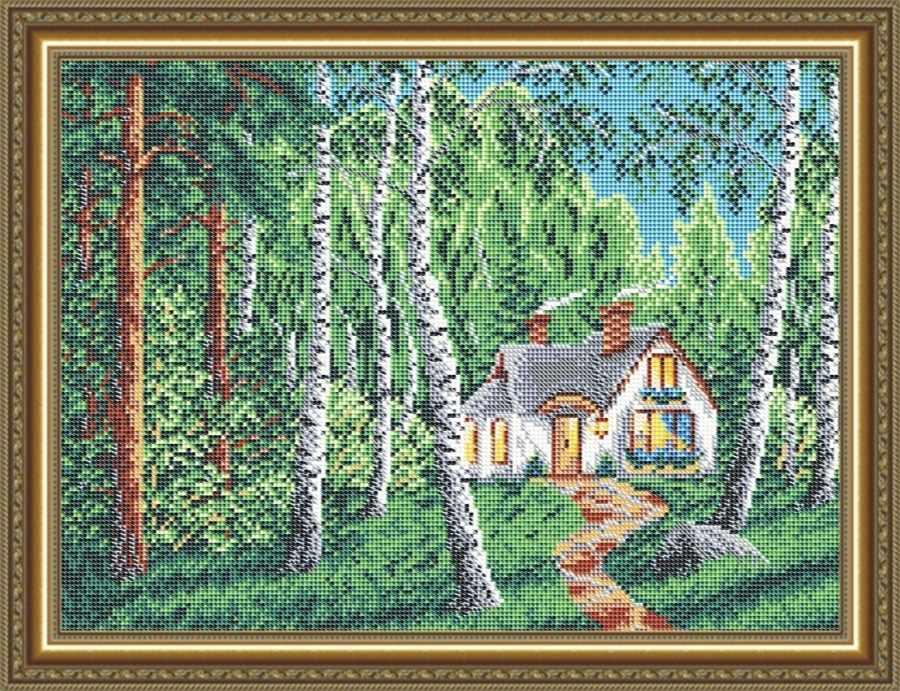 VKA3124 Домик в лесу - схема для вышивания (Art Solo)