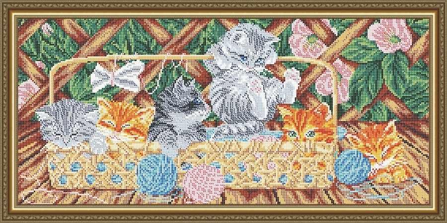 VKA3122 Котята на террасе - схема для вышивания (Art Solo)