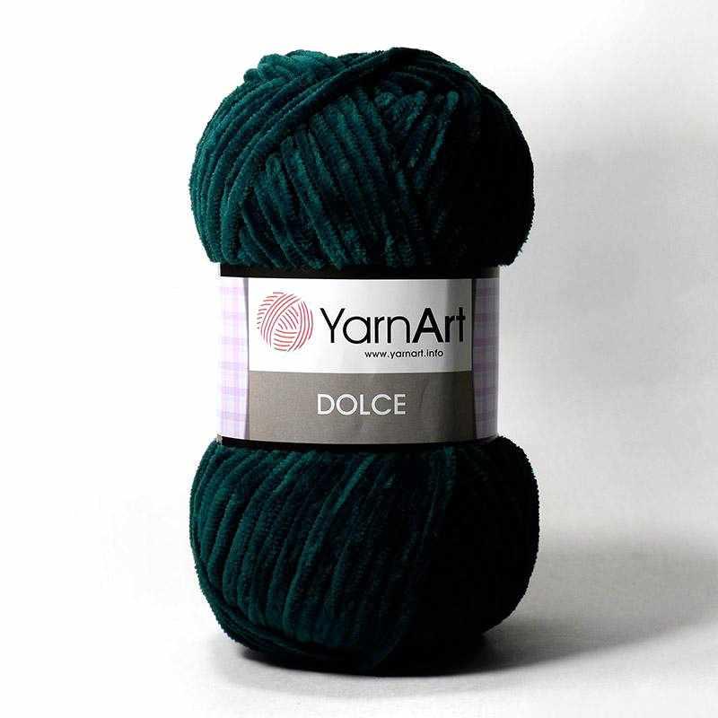 Пряжа YarnArt Dolce Цвет. 774 Изумруд