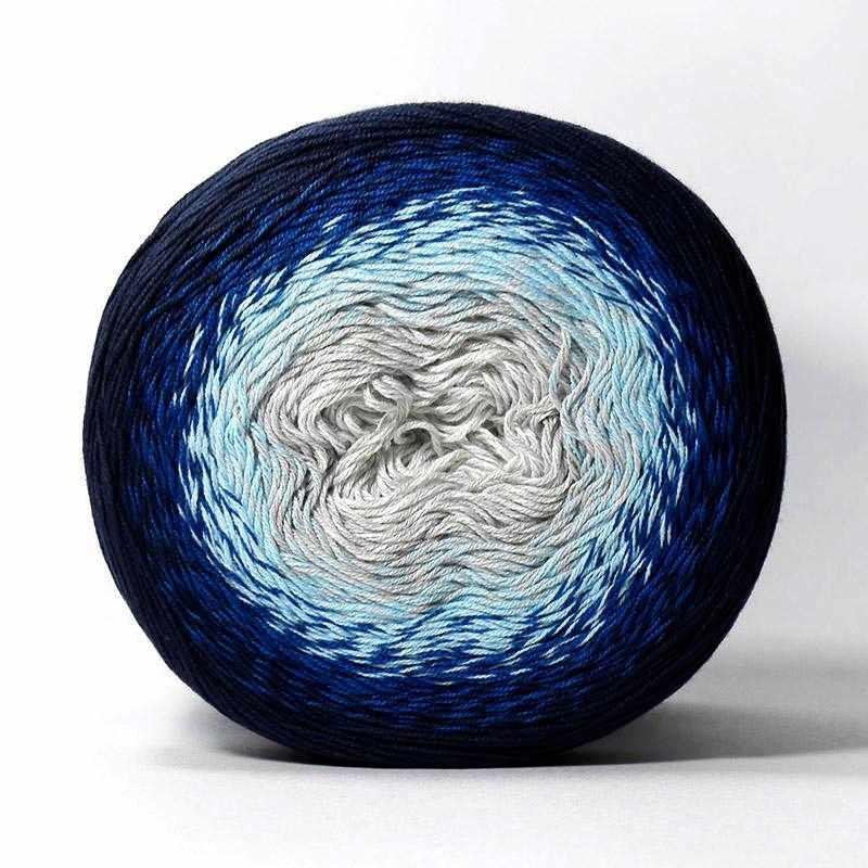 Пряжа YarnArt Flowers YarnArt Цвет.261 Темно синий-голубой-серый