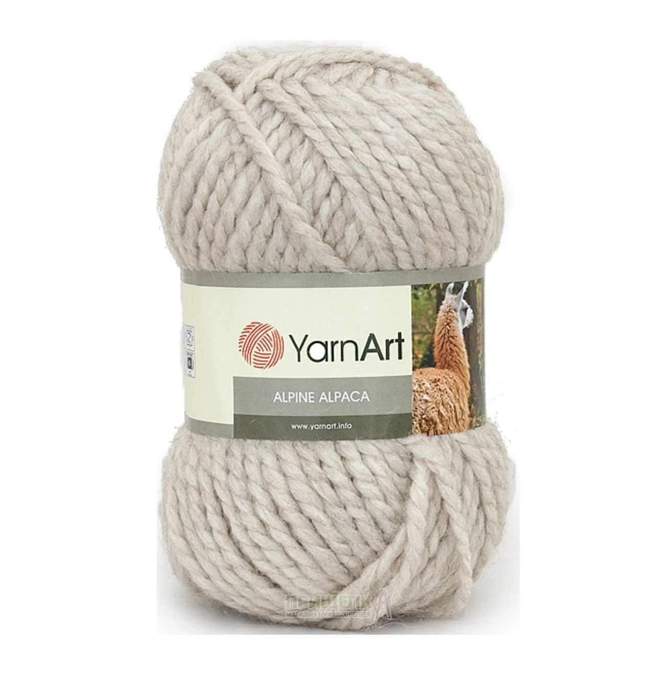 Пряжа YarnArt ALPINE ALPACA Цвет.430 Натуральный