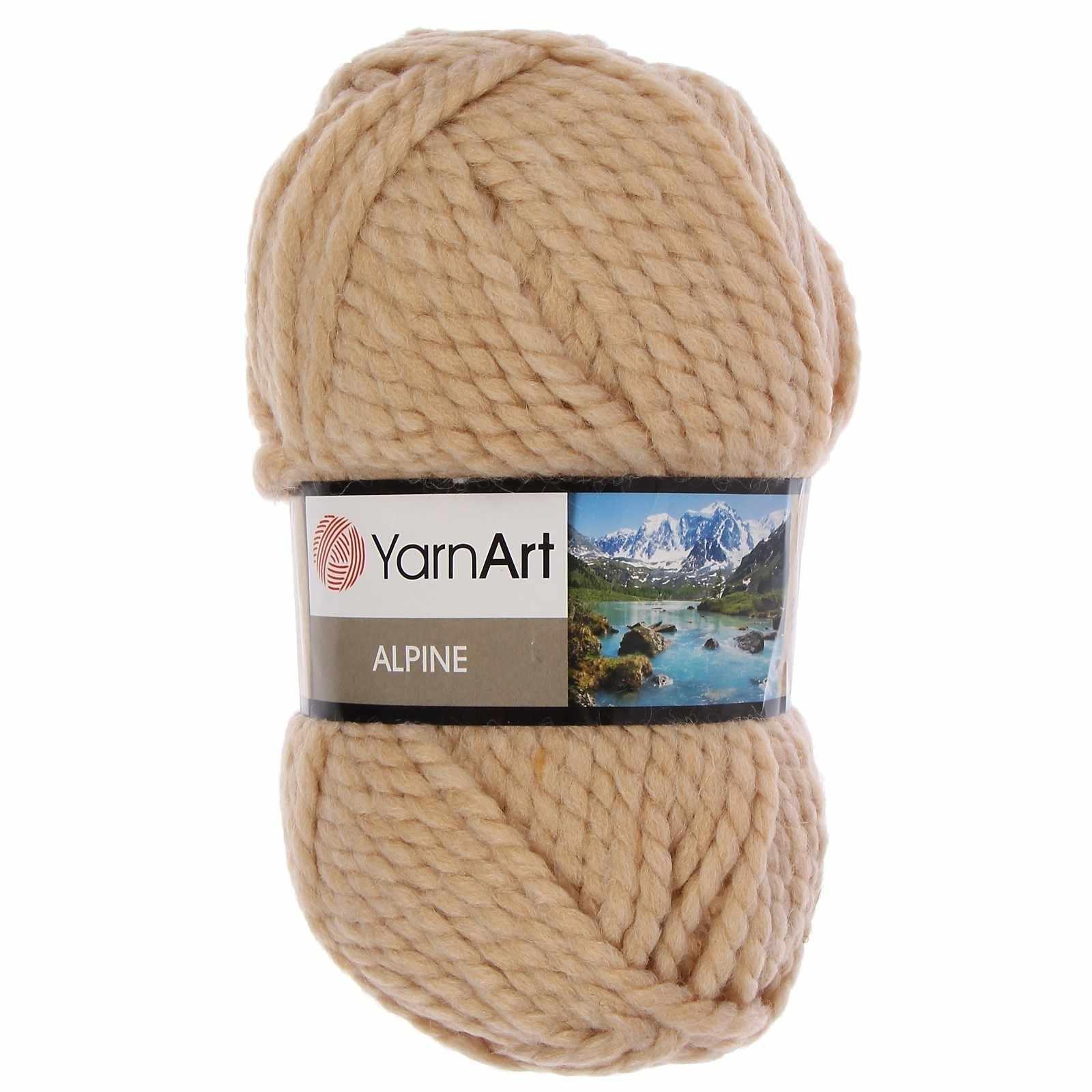 Пряжа YarnArt ALPINE Цвет.335 Кофе с молоком
