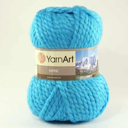 Пряжа YarnArt ALPINE Цвет.339 Голубая бирюза